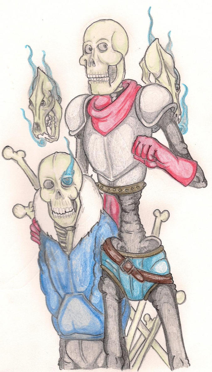 Papyrus and Sans by TheGloriesBigJ
