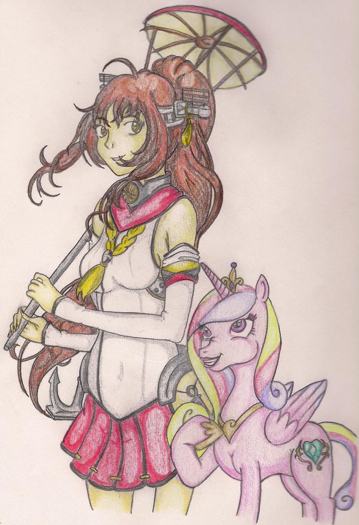 Yamato and Cadance by TheGloriesBigJ