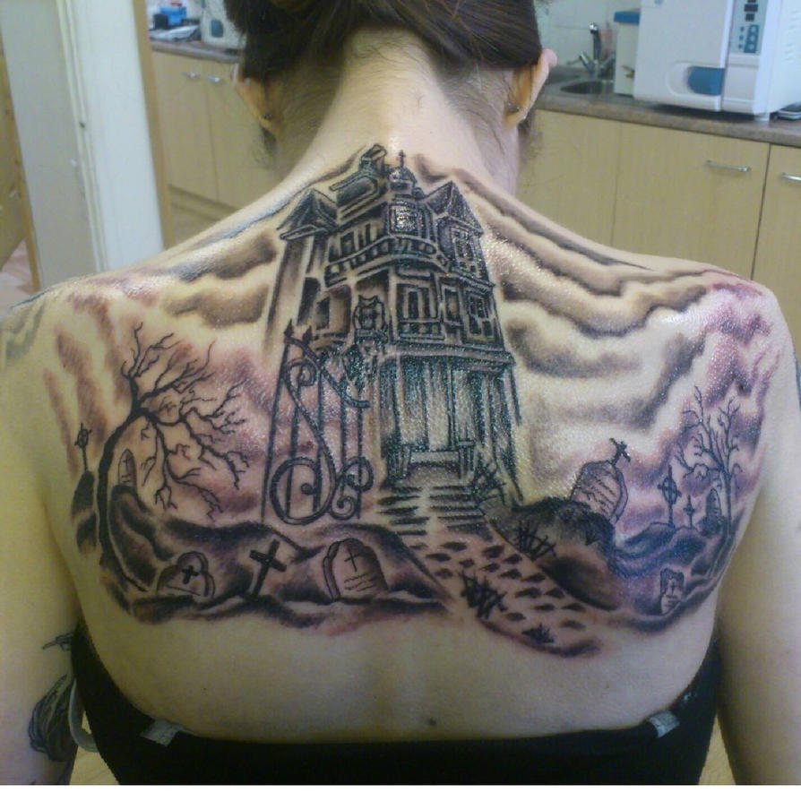 Graveyard background tattoo