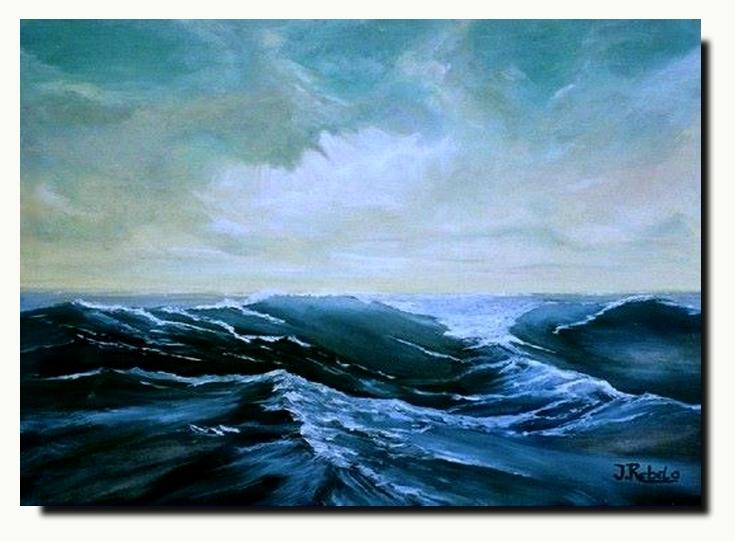 Alto mar - Oleo sobre tela 70x50 by zoltan50