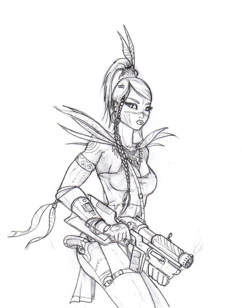 Warrior Princess By JusDrewIt