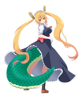 Art Trade: Dragon Maid-Tohru by Neopalitan