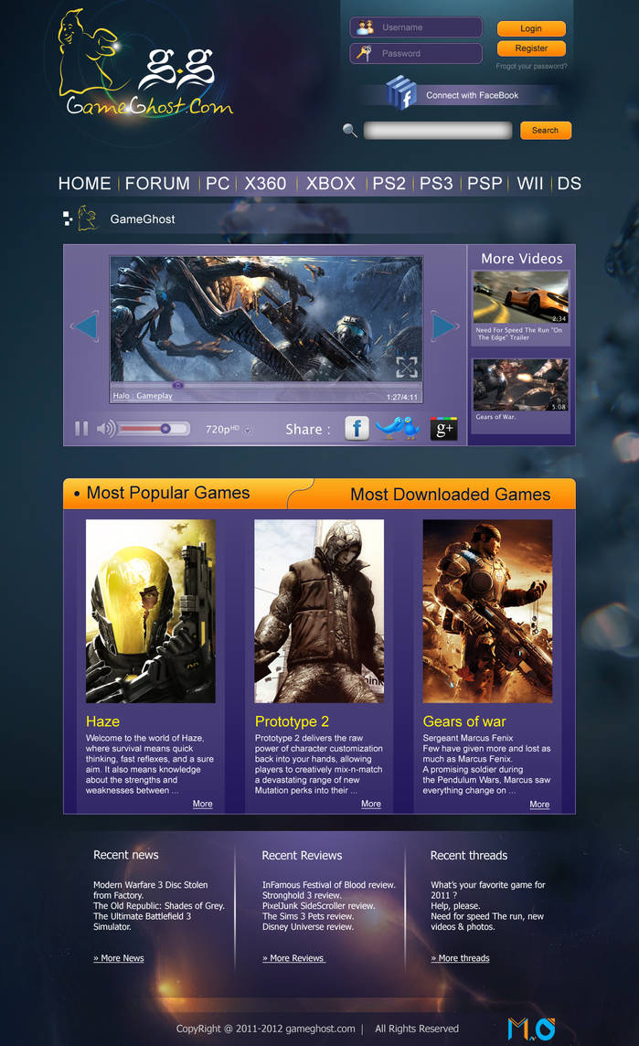 GameGhost web design by MohamedGfx