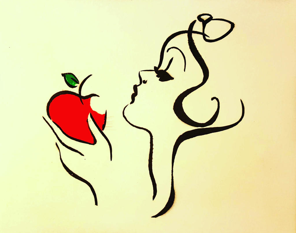 Disney Snow White Apple Silhouette | www.imgkid.com - The ...