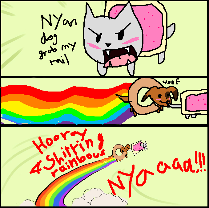 nyan_cat_and_dog_grab_my_meme_by_chazzprince d41n0ji nyan cat and dog grab my meme by drspencerreidbietch on deviantart