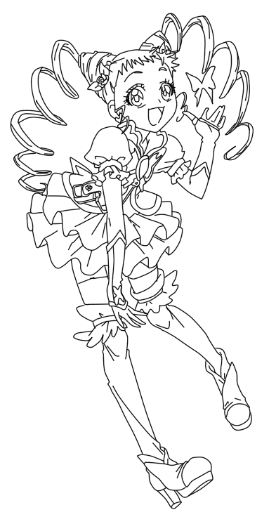 Yes Precure Coloring Pages