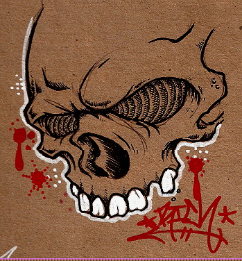 Quick Skull Sketch by HorribleBlack