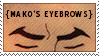 Mako's Eyebrows Stamp (Legend of Korra) by DialaDesign