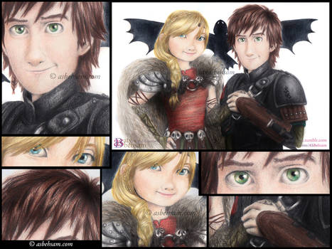 Close Up - Hiccup and Astrid