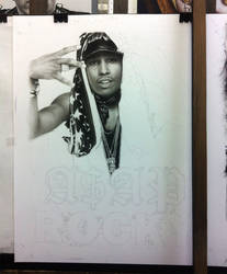 A$AP Rocky Charcoal Portrait 25% by TreasuredPortraits