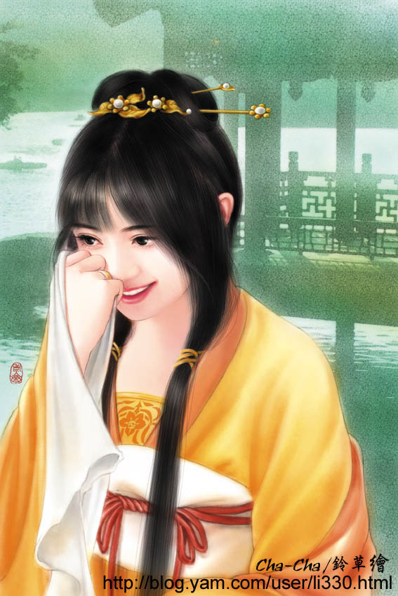 smile beside the pagoda