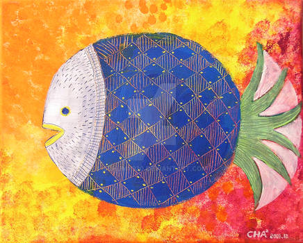 A pineapple fish