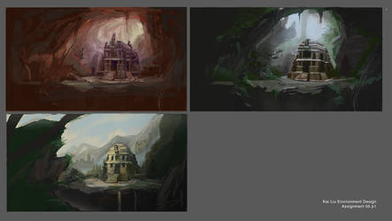 lighting and environment sketches 01 by Kiwokai