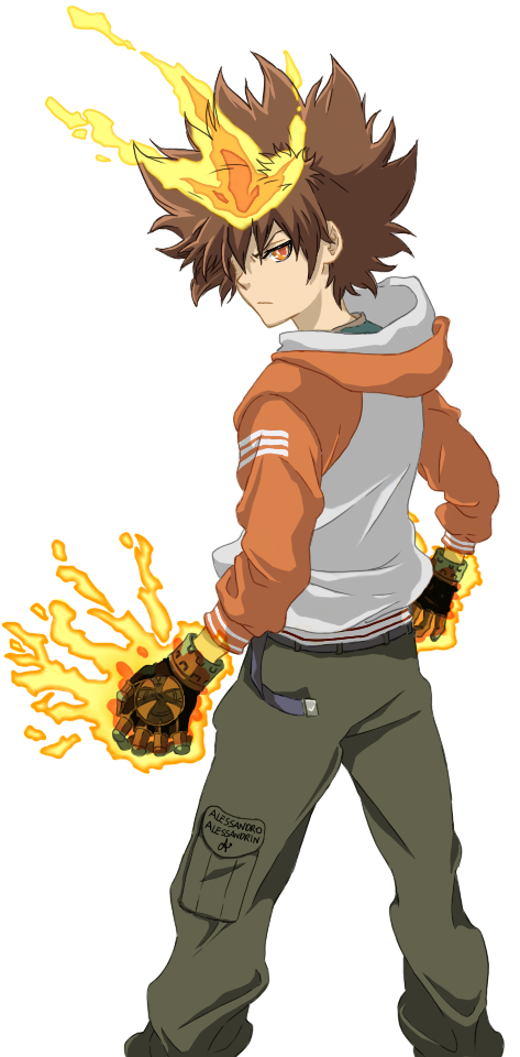 Tsuna from Katekyo Hitman Reborn! by phantomcecco