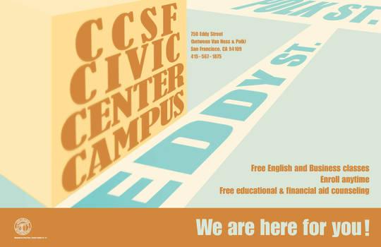 CCSF Civic Center Campus Post
