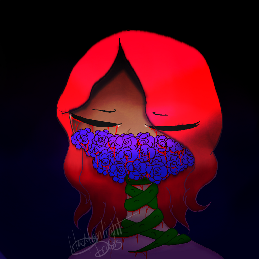 Flower Pain by LilacMoonlightDraws
