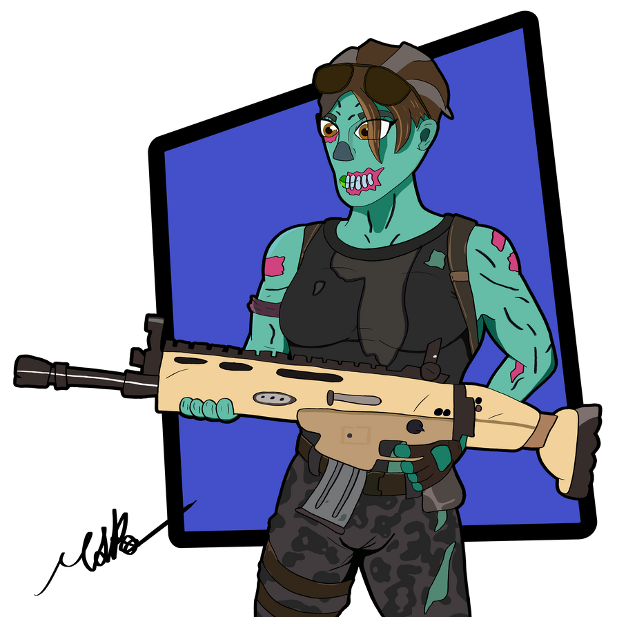 fortnite art ghoul trooper by smallbutsimple - fortnite ghoul trooper drawing