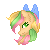 [Commissiom] Rainbow Sherbert Bust Icon by Marushi-Dracul