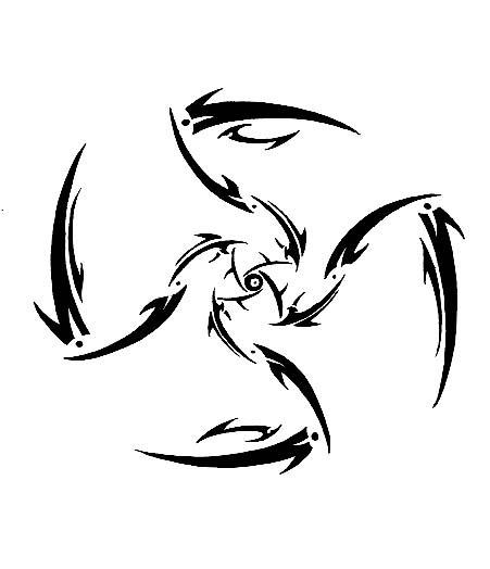 Demon Tribal Shuriken by Sharktoz