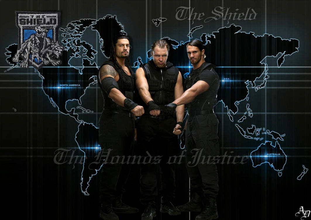 wwe the shield wallpaper by shizuleinxd on deviantart