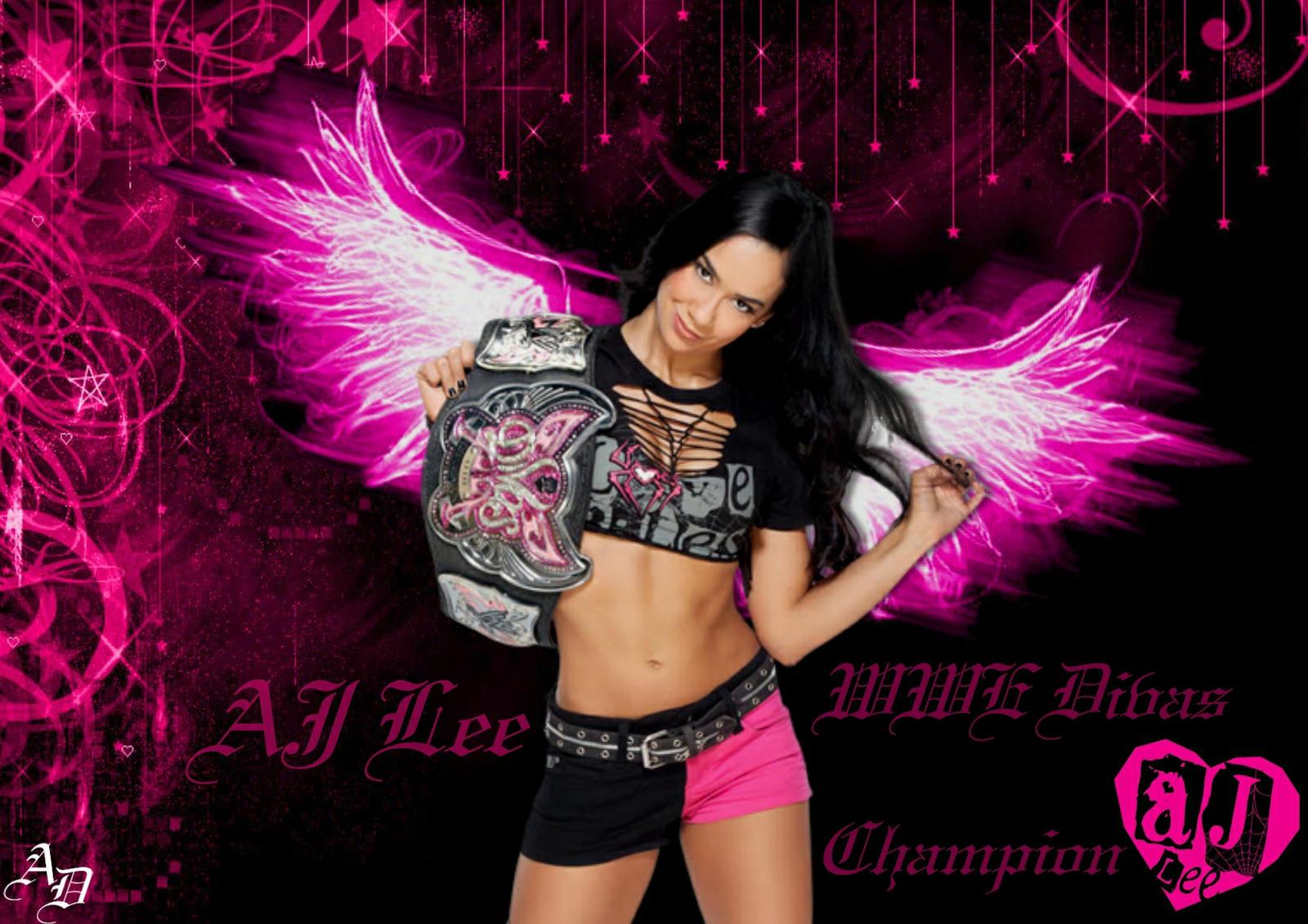 WWE AJ Lee Wallpaper by ShizuLeinXD