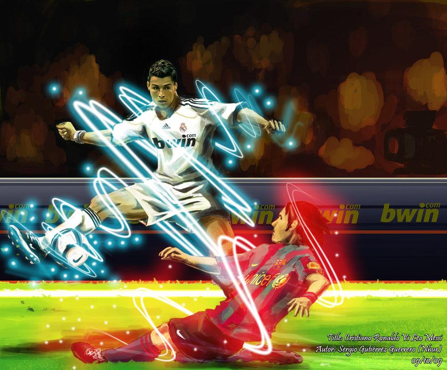 Cristiano Ronaldo Vs Leo Messi By Edgarjaquez