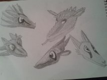 Dragon's Head Sketches by LIZ94