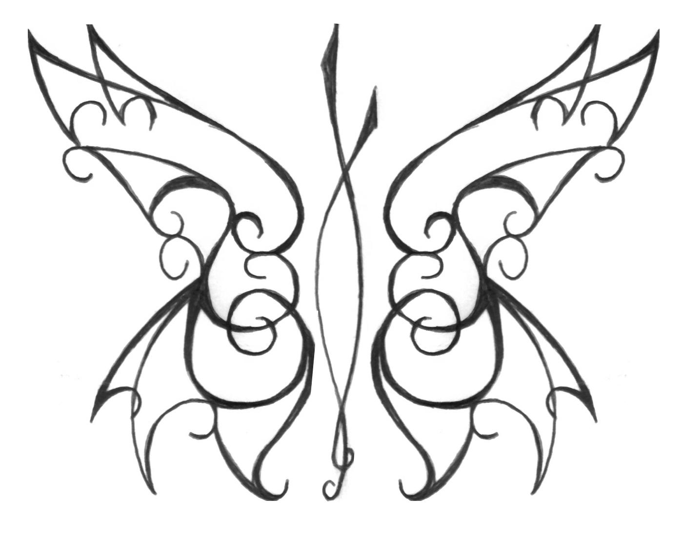 tribal butterfly by frau kruspe on deviantart. Black Bedroom Furniture Sets. Home Design Ideas