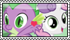 Sweetie BellexSpike Stamp by migueruchan