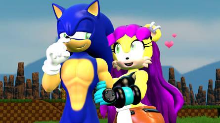 Sonic x Mina by migueruchan