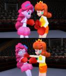 Daisy vs Pinkie by migueruchan