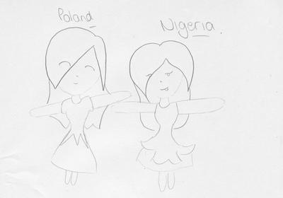 Poland and Nigeria by lou-lou10