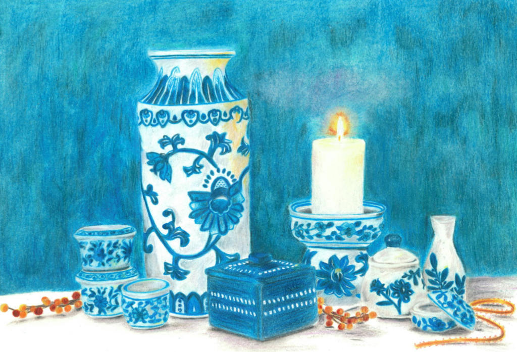 Blue and White by kirsmarie