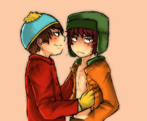 Cartman+Kyle by suzumura-chan