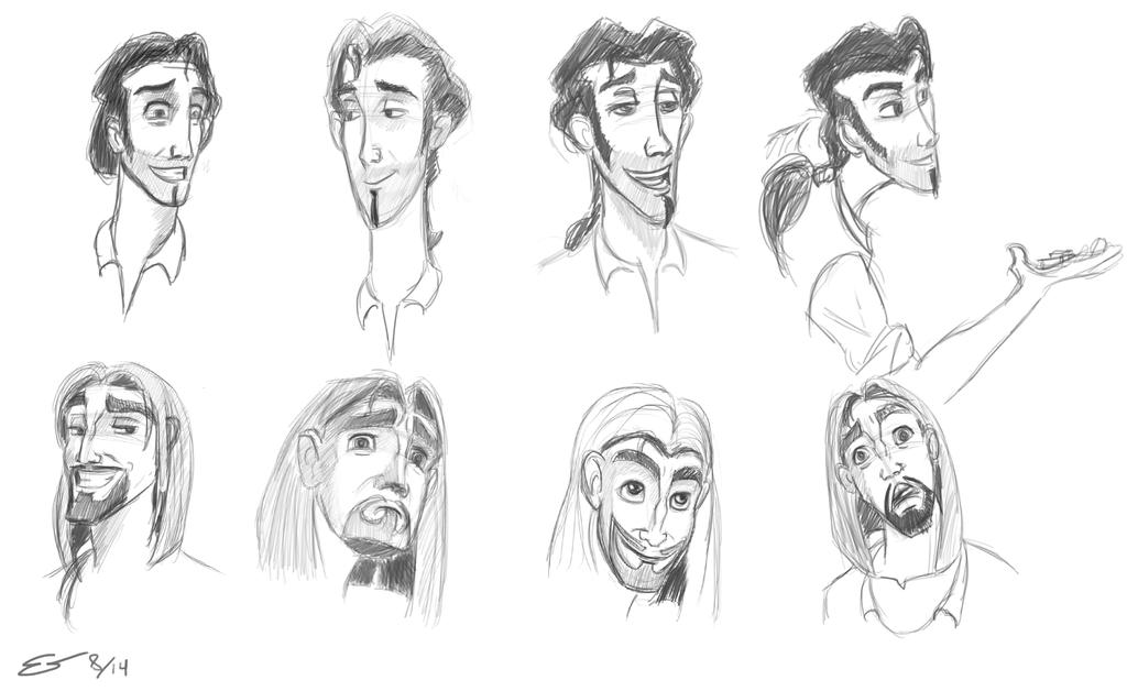 Tulio and miguel expressions by Deviantapplestudios