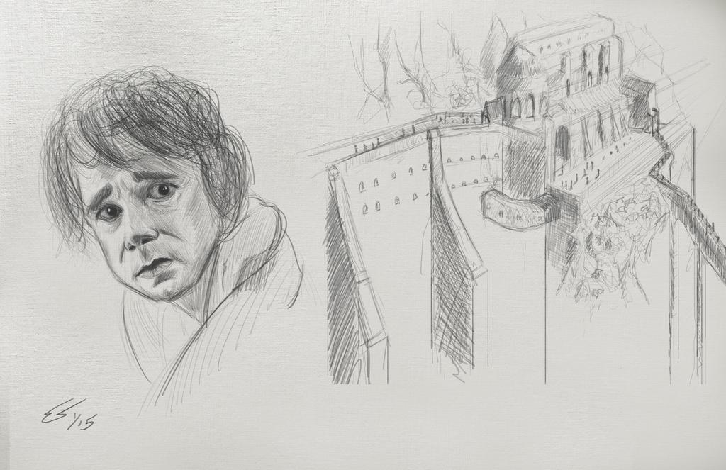 Hobbit Sketches by Deviantapplestudios