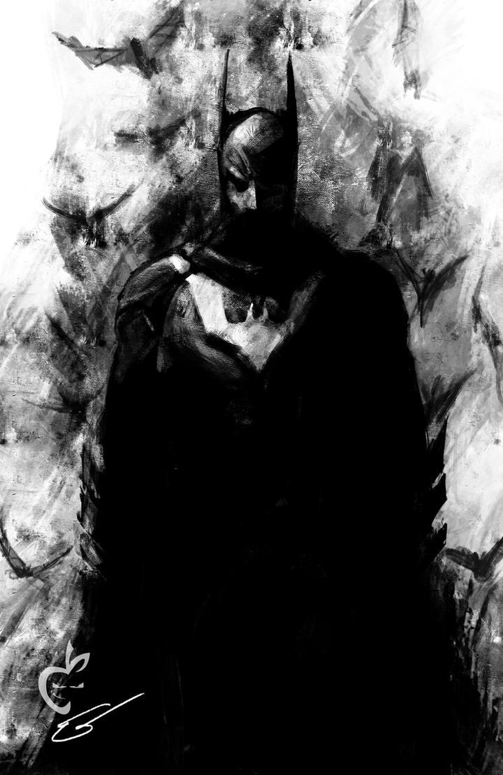 Batman quick sketch by Deviantapplestudios