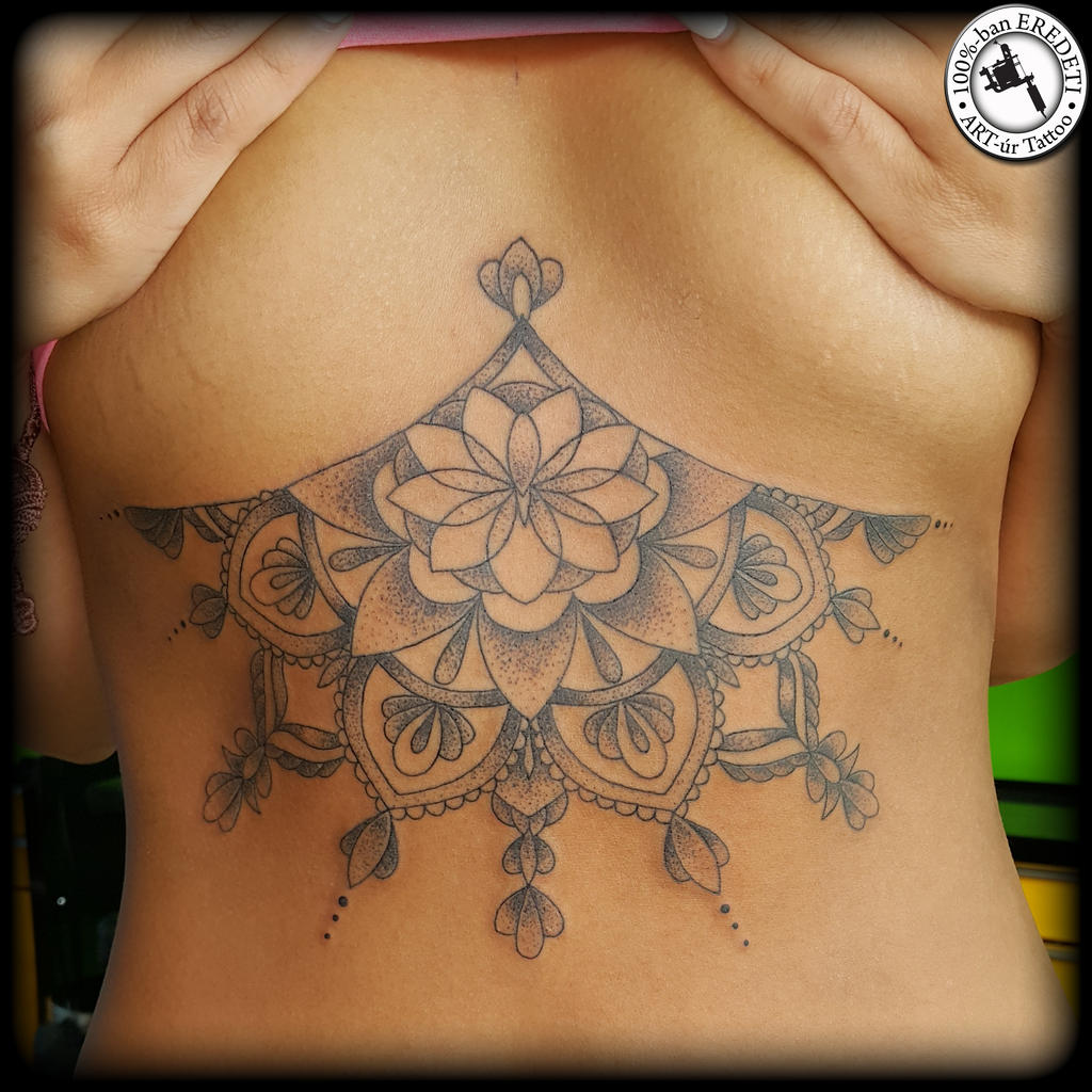 Sternum tattoo dotwork by arturtattooart on deviantart for Sternum tattoo female