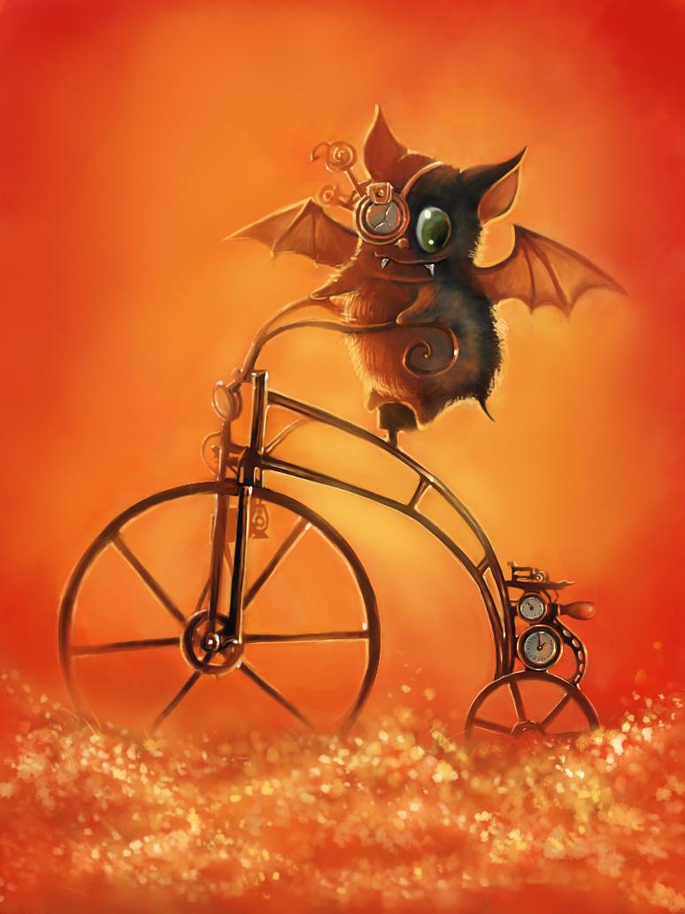 steampunk bat by AnnaGabrie