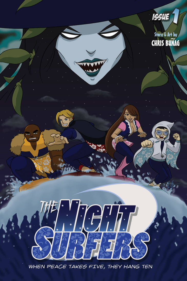 The Night Surfers: Issue 01 Cover