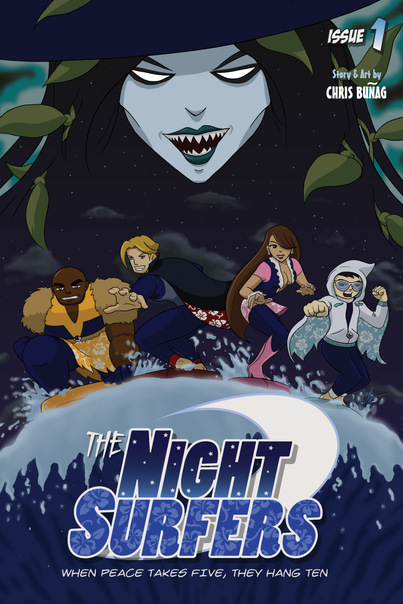 The Night Surfers: Issue 01 Cover by thenightsurfers