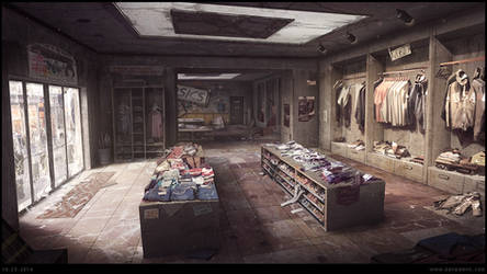 Ruined Shop - Concept Art ( 3D projection ) by penemenn