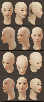 Face Blender Texture Painting