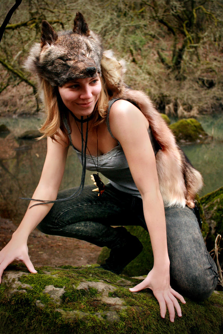 Silver Coyote Headdress III by NaturePunk