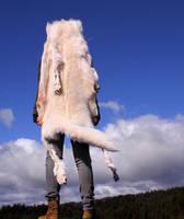 White Wolf Skin Headdress II