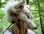 White Wolf Skin Mask