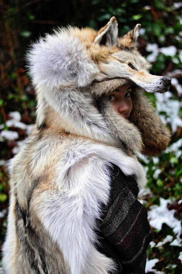 Red Arctic Wolf Headdress Ii By Naturepunk On Deviantart