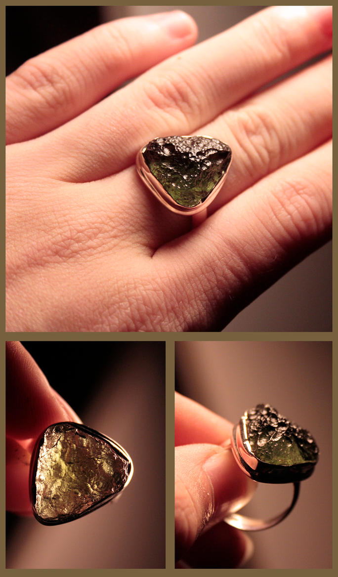 Moldavite Promise Ring by NaturePunk