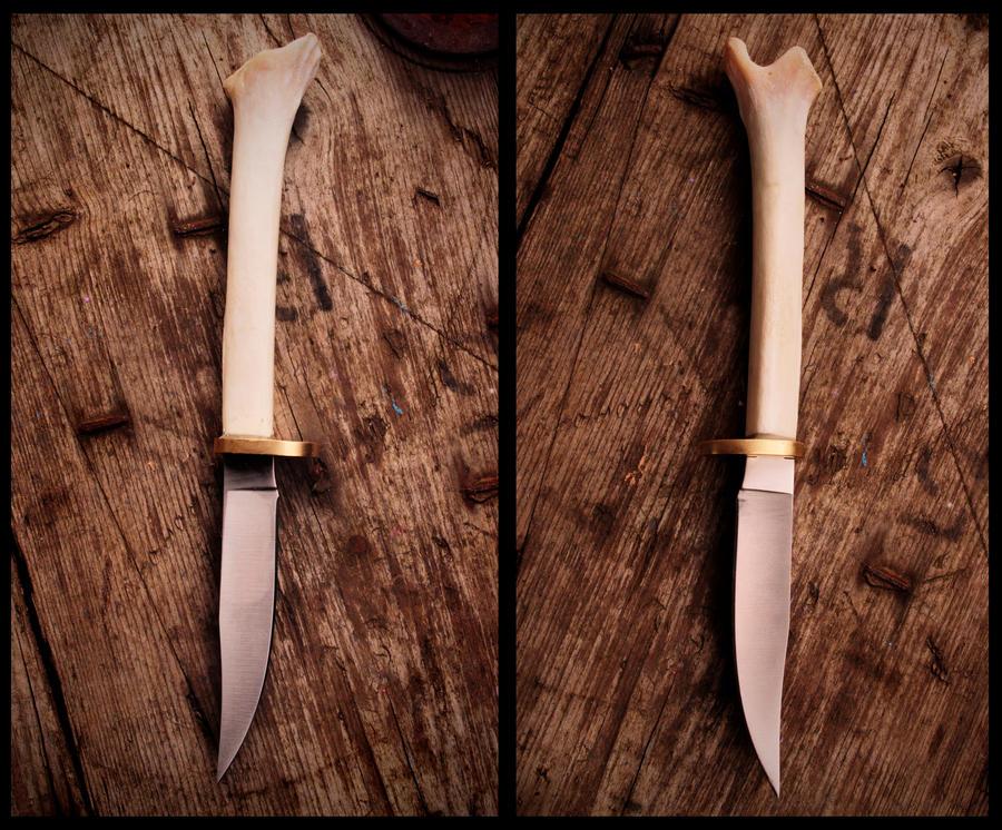 The Skinner - Bobcat Legbone Knife by NaturePunk