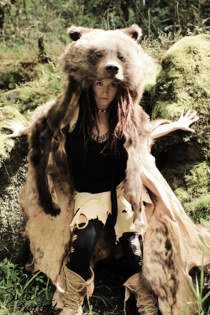 Vintage Grizzly Bear Headdress By Naturepunk On Deviantart